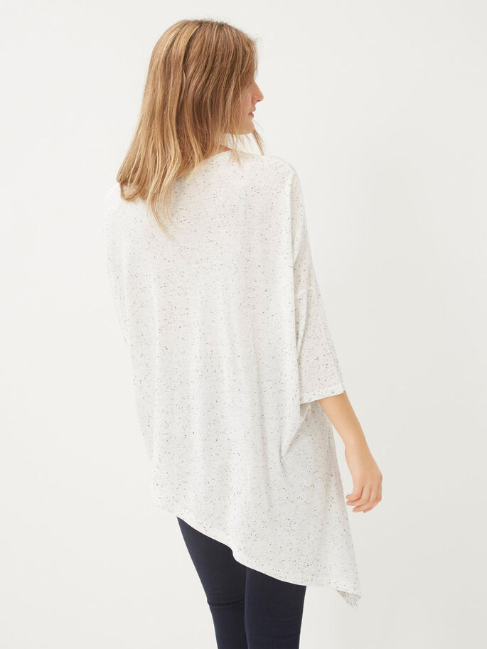 LONG LOOSE FIT SHORT SLEEVED TOP, Snow White, large