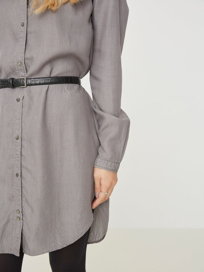 LONG SHIRT, Light Grey Denim, large