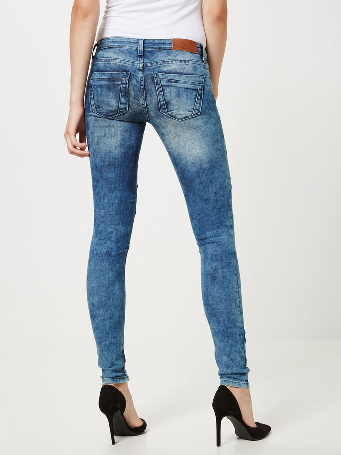 EVE BIKER SKINNY FIT JEANS, Dark Blue Denim, large