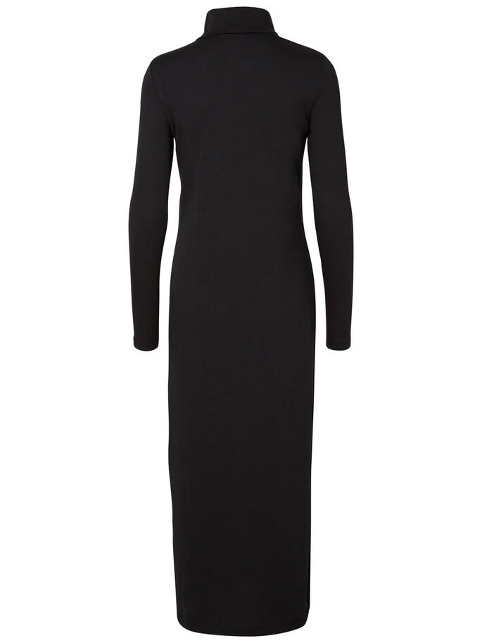 LANGÄRMELIGES KNÖCHEL- KLEID, Black, large