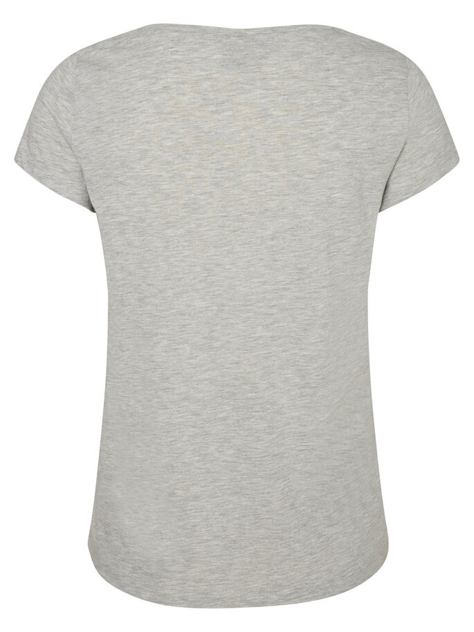 KURZÄRMELIGES T-SHIRT, Light Grey Melange, large