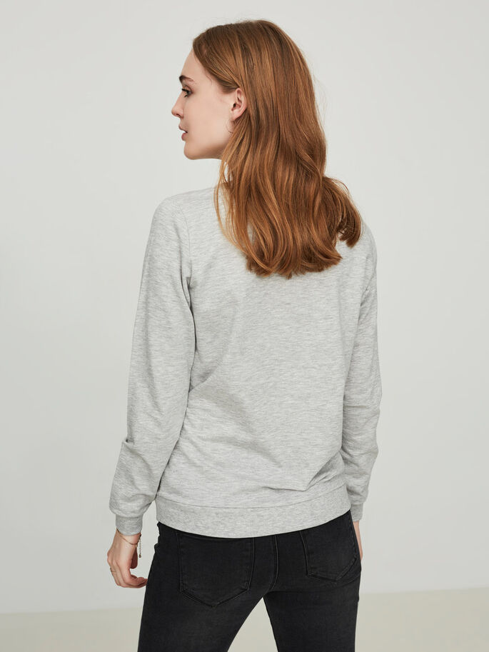 IMPRIMÉ SWEAT-SHIRT, Light Grey Melange, large