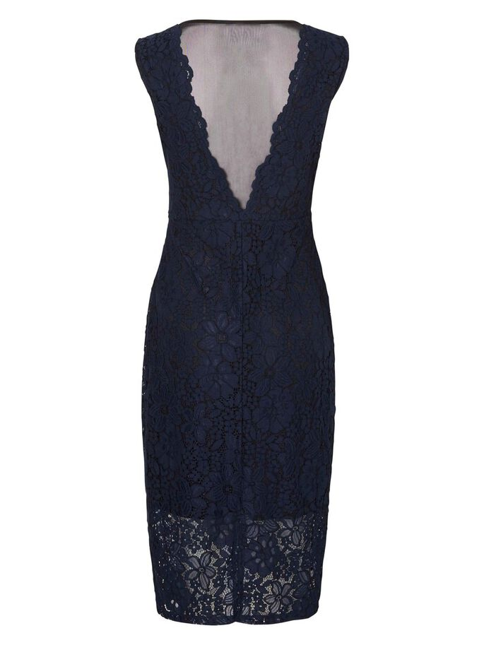 LACE DRESS, Navy Blazer, large