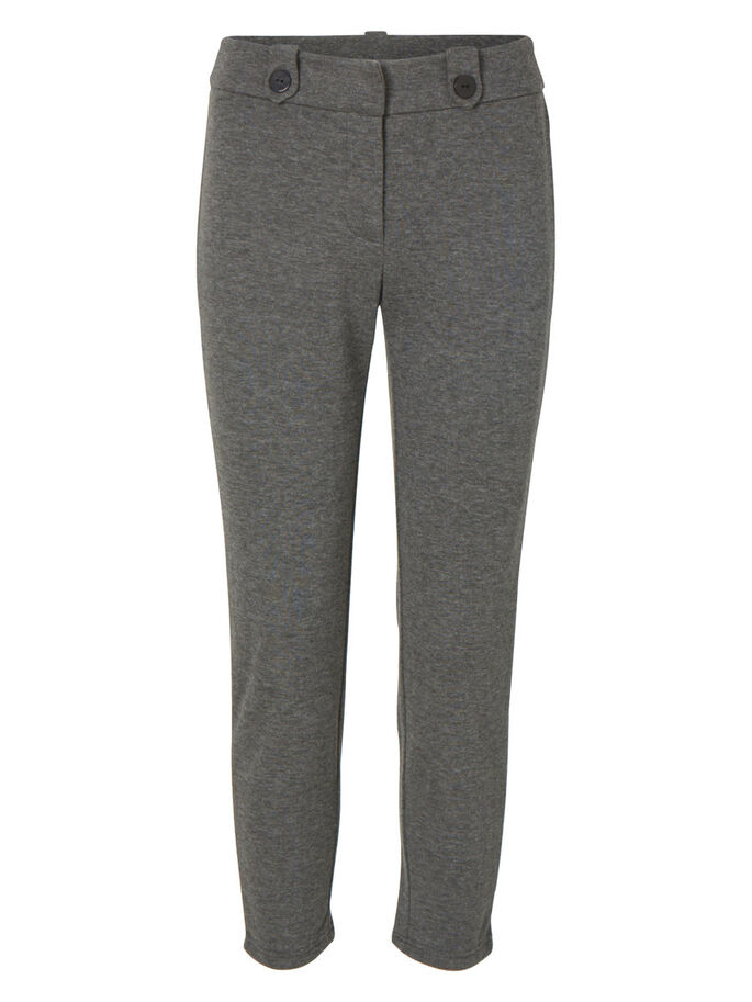 SLIM FIT BROEK, Medium Grey Melange, large