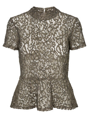 LACED SHORT SLEEVED TOP