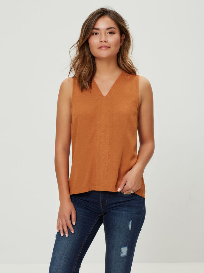 FEMININ SLEEVELESS TOP, Adobe, large