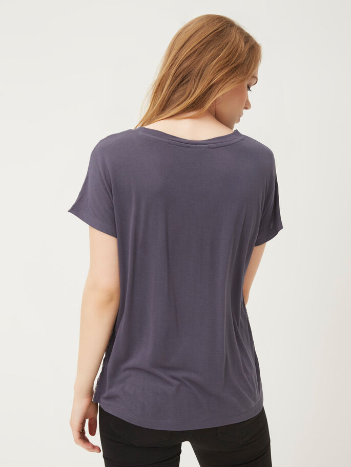 CASUAL SHORT SLEEVED TOP, Ombre Blue, large