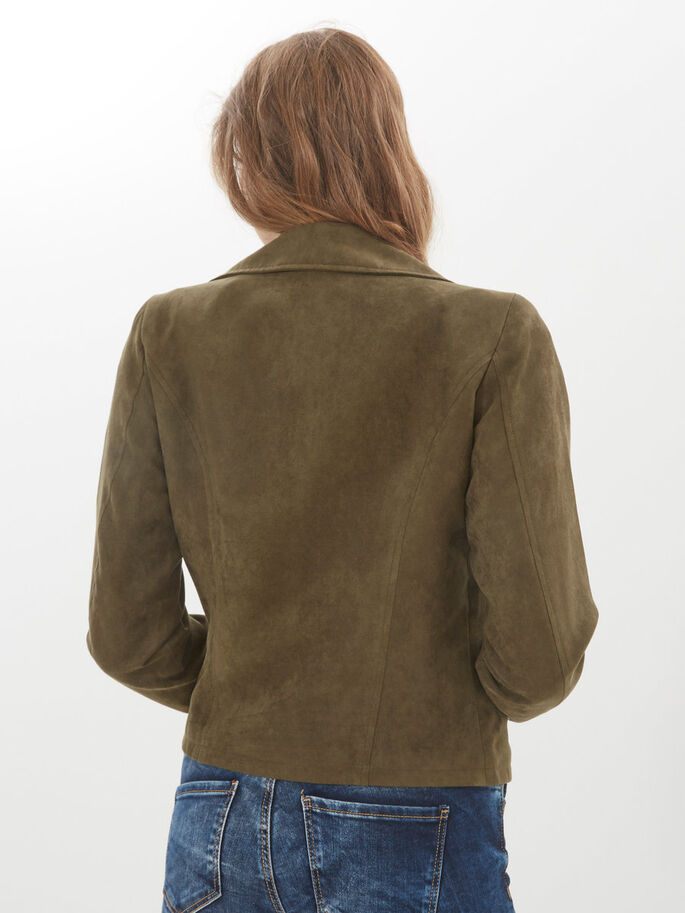 FAUX SUEDE JACKET, Ivy Green, large