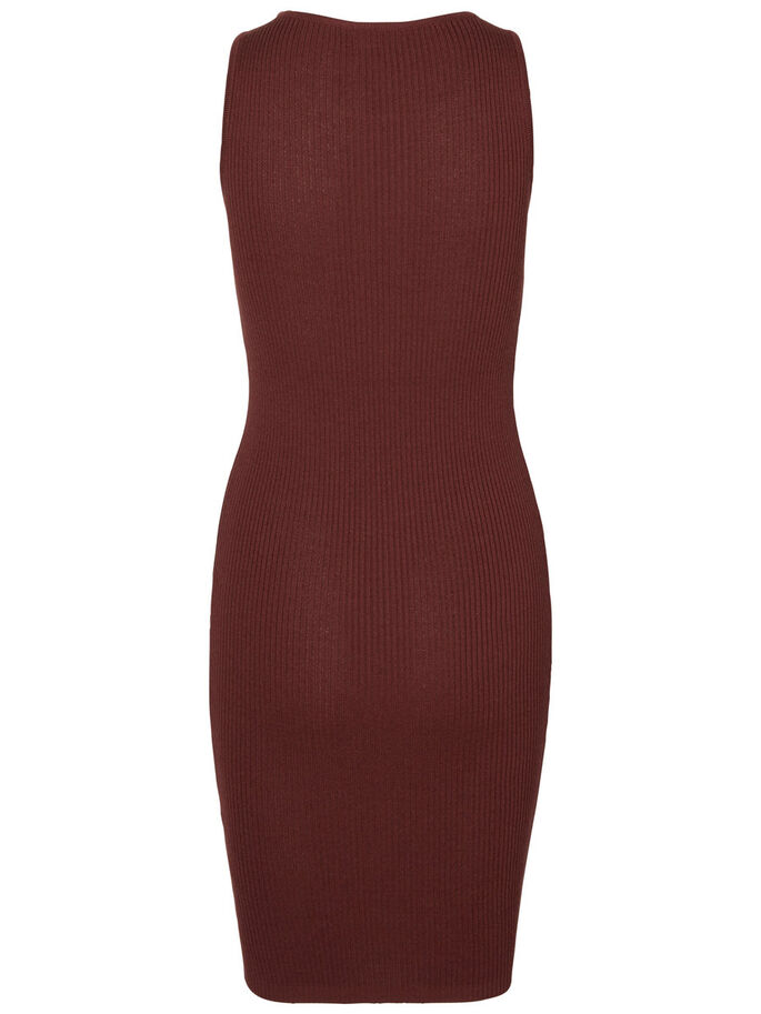 SANS MANCHES ROBE, Decadent Chocolate, large