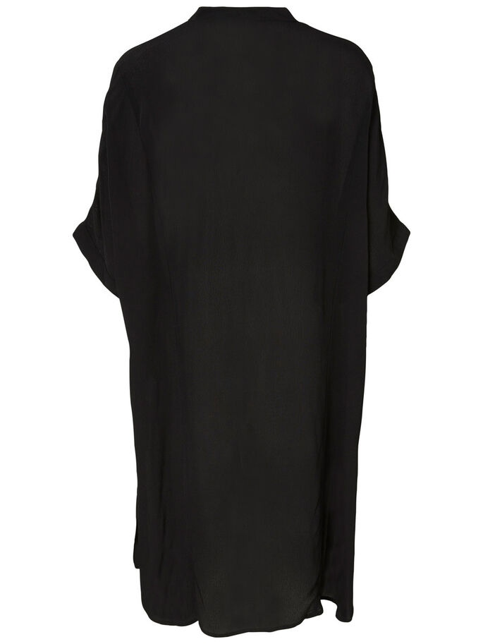 KORTE MOUW TUNIEK, Black, large