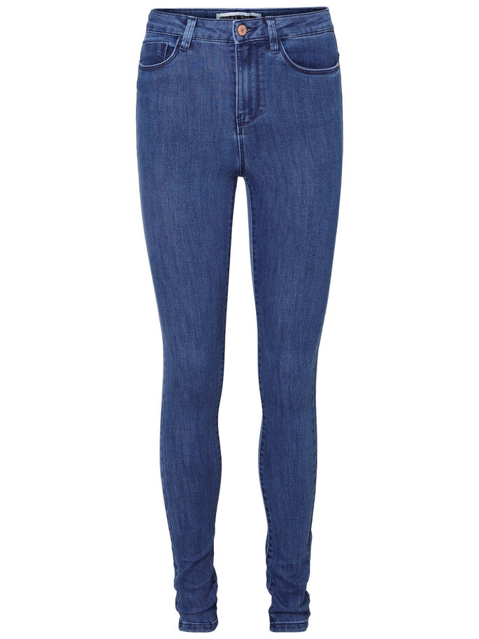 LEXI HW SKINNY FIT -FARKUT, Medium Blue Denim, large