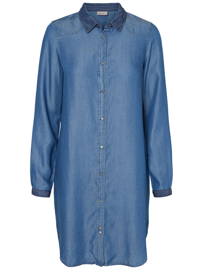 LONGUE CHEMISE, Light Blue Denim, large