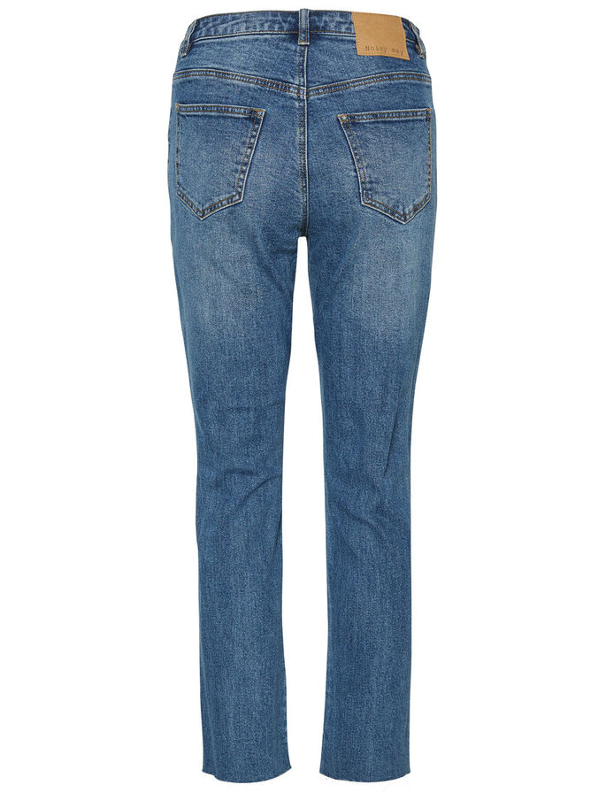 LIV NW ANKLE STRAIGHT FIT JEANS, Medium Blue Denim, large