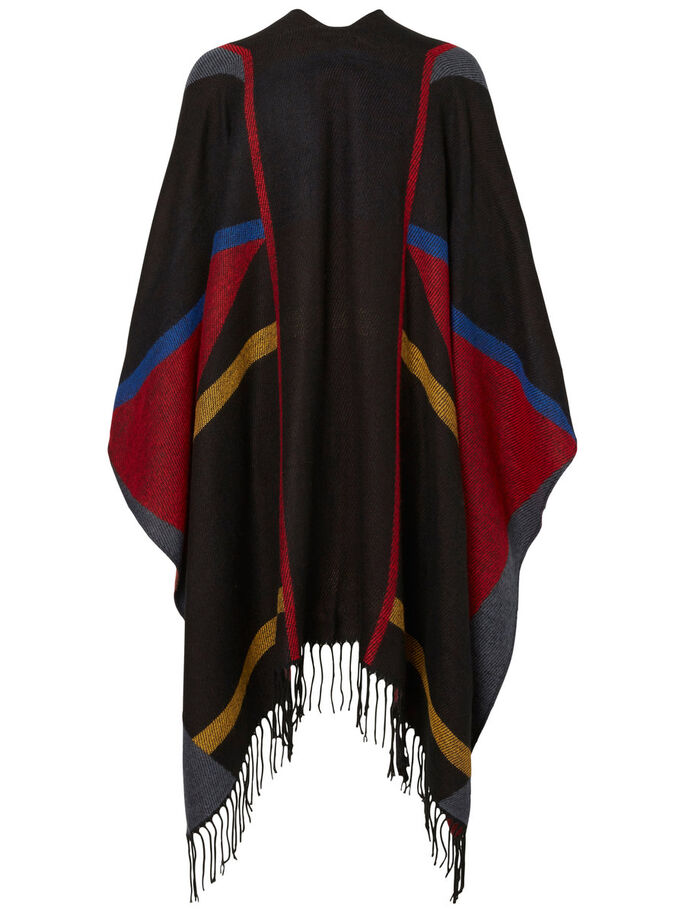 STICKAD PONCHO, Black, large