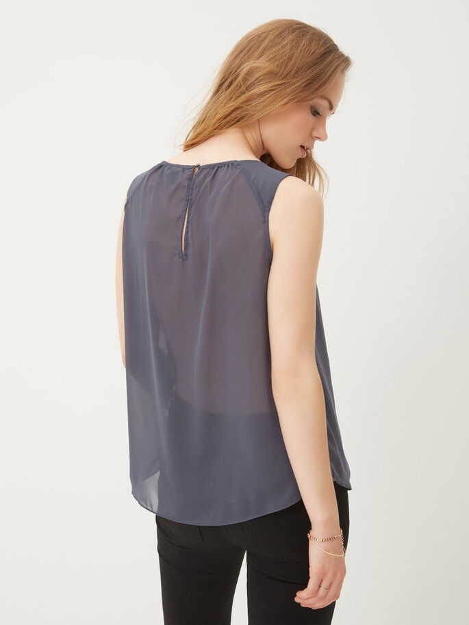 SEQUINED SLEEVELESS TOP, Ombre Blue, large