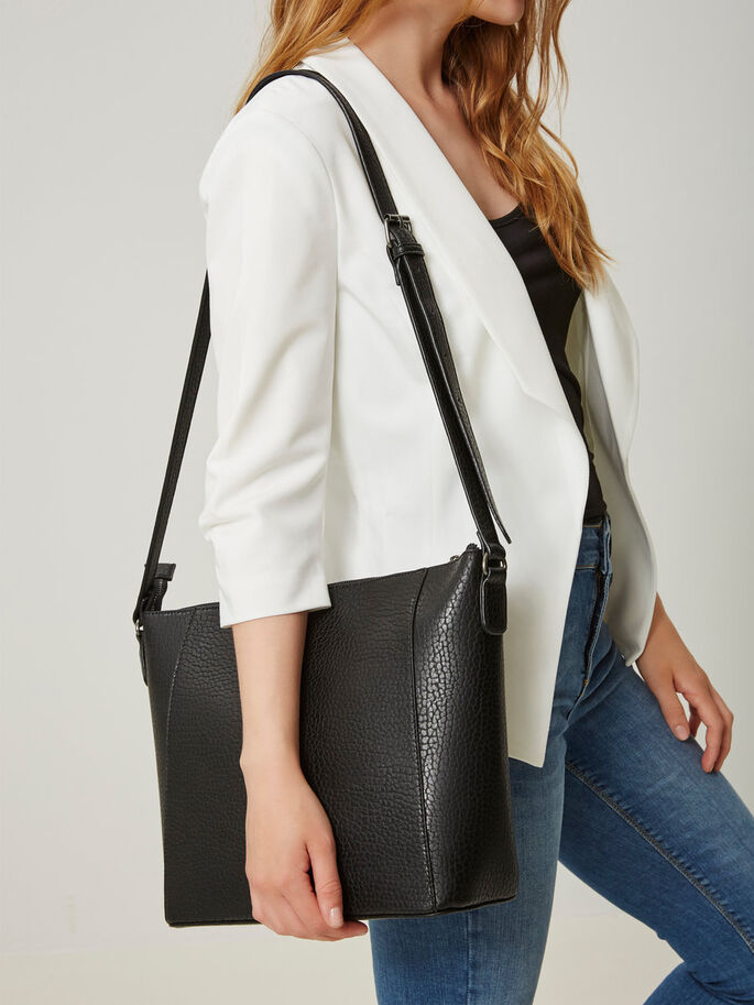 IMITATION LEATHER CROSSBODY BAG, Black, large