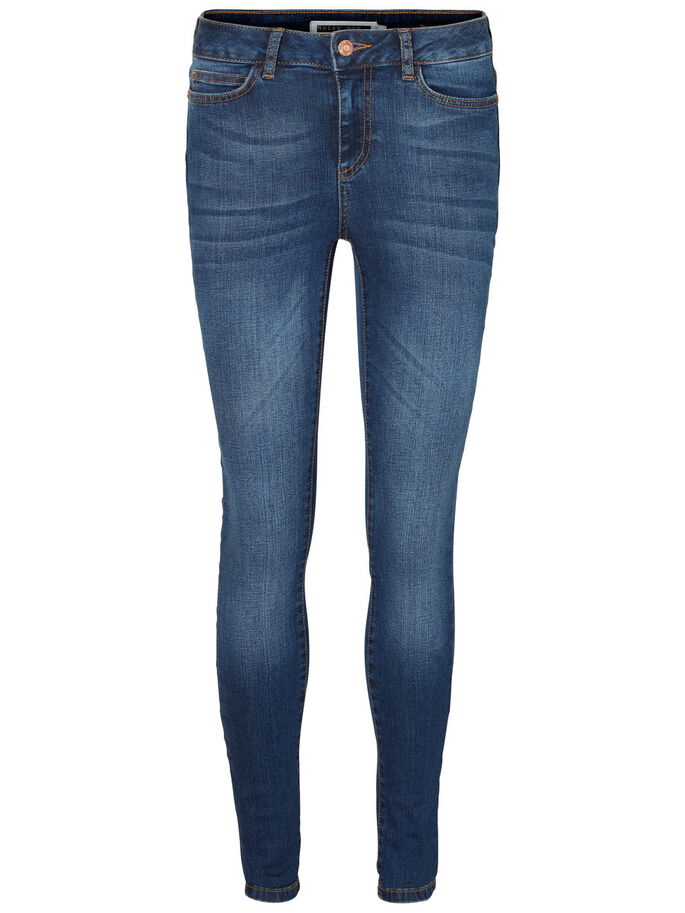 LUCY NW SKINNY FIT JEANS, Dark Blue Denim, large
