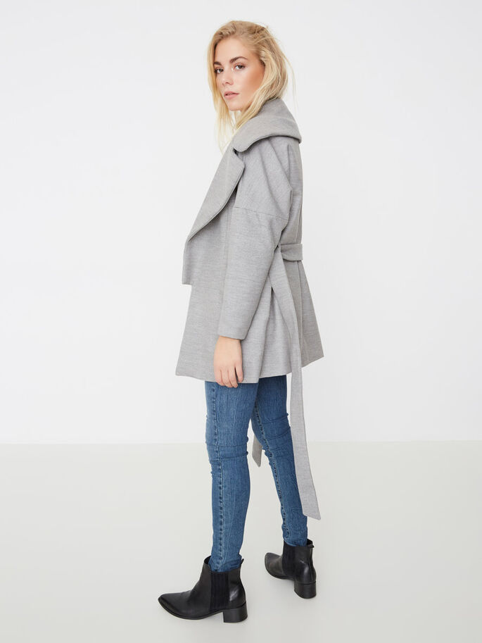 ÜBERGANGS- JACKE, Light Grey Melange, large