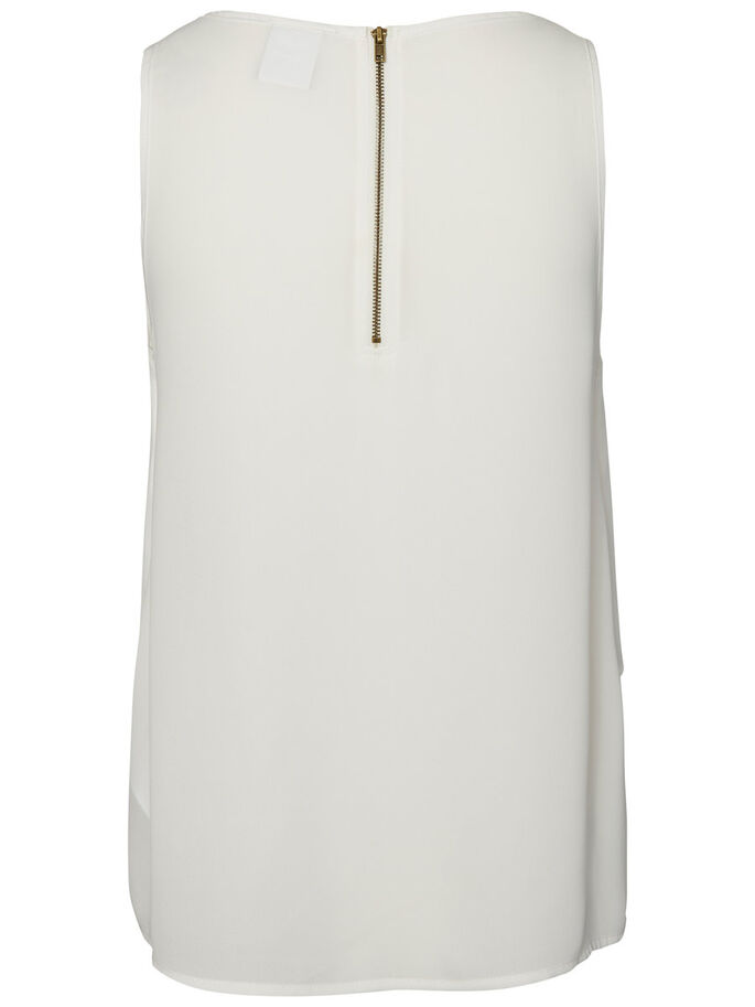 LAYERED SLEEVELESS TOP, Snow White, large