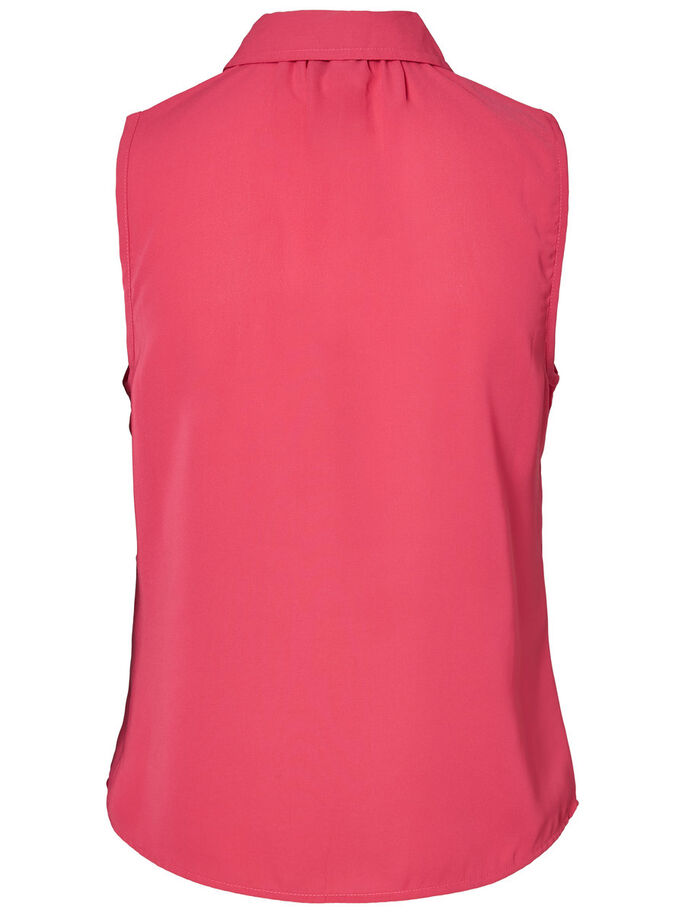 DETAILED SLEEVELESS SHIRT, Beetroot Purple, large