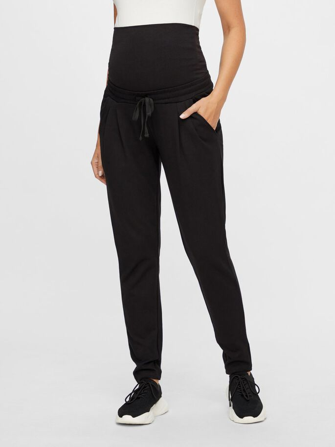 LOOSE FIT MATERNITY TROUSERS, Black, large