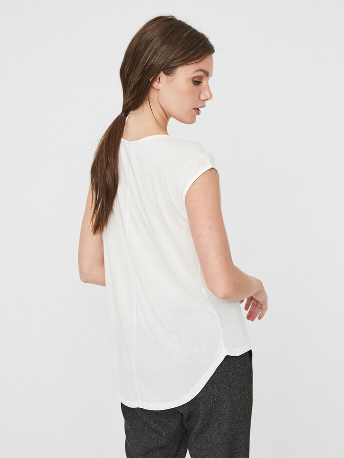 VISCOSE SLEEVELESS TOP, Snow White, large
