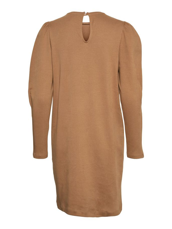 LONG SLEEVED MINI DRESS, Tigers Eye, large