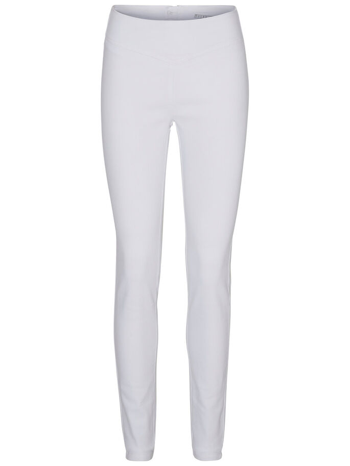 HIGH WAIST JEGGINGS, Bright White, large