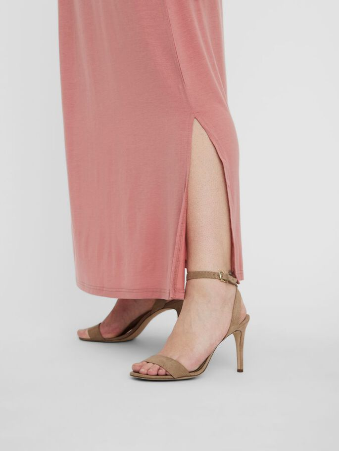 NORMAL WAIST MAXI SKIRT, Old Rose, large