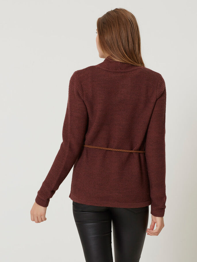 LANGÄRMELIGER STRICK-CARDIGAN, Decadent Chocolate, large