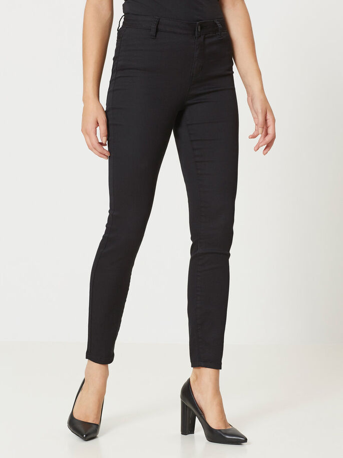 HW SLIM FIT PANTALON, Black, large