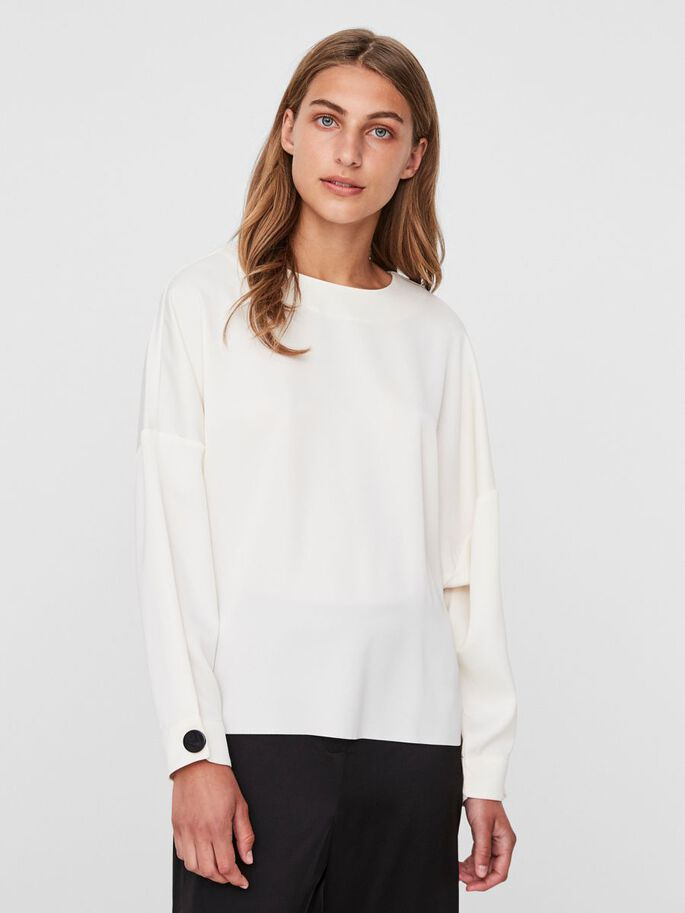 AWARE LONG SLEEVED BLOUSE, Eggnog, large