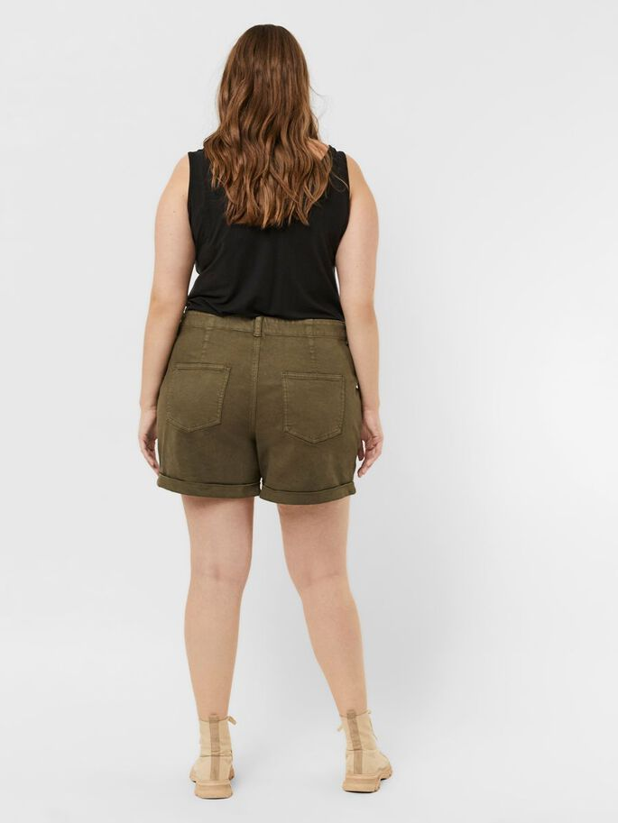 NORMAL WAIST SHORTS, Ivy Green, large
