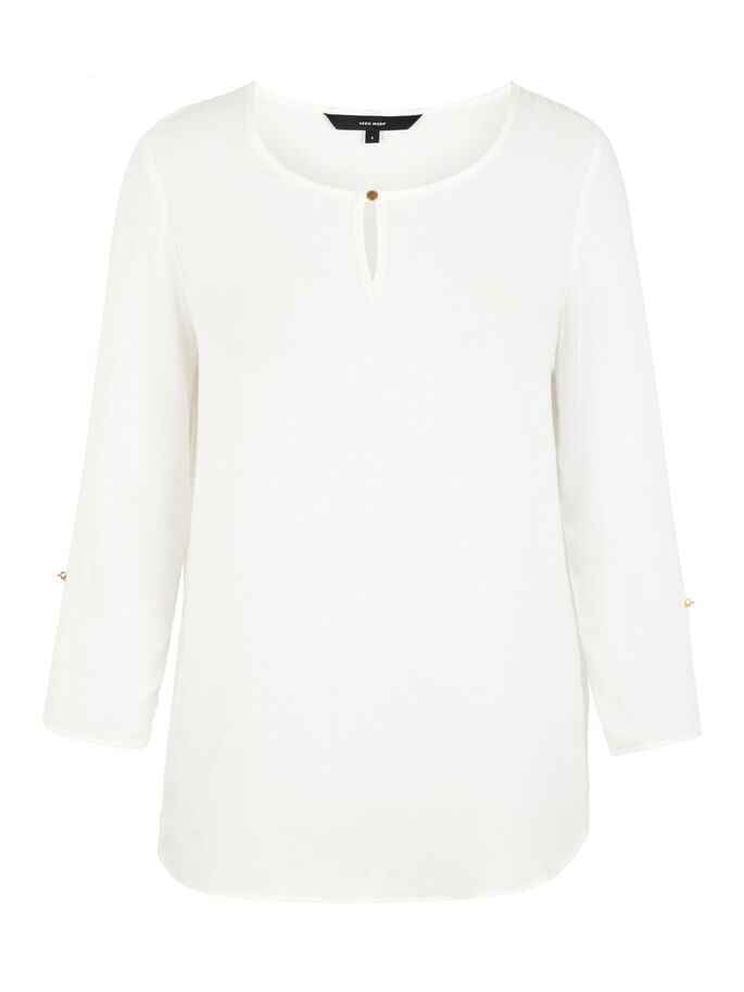 CLASSIC 3/4 SLEEVED BLOUSE, Snow White, large
