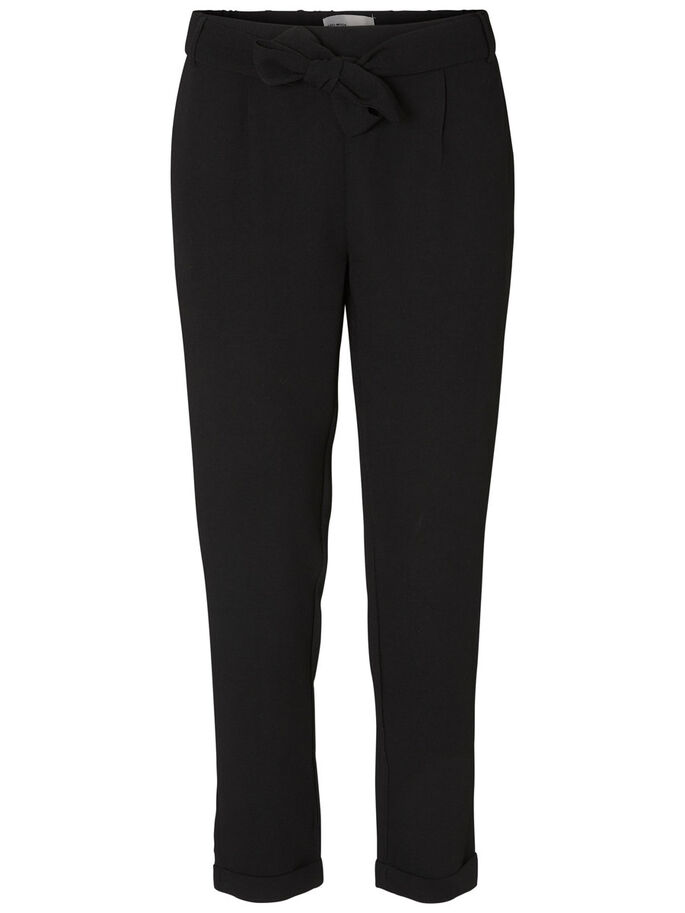 ANKLE TROUSERS, Black, large