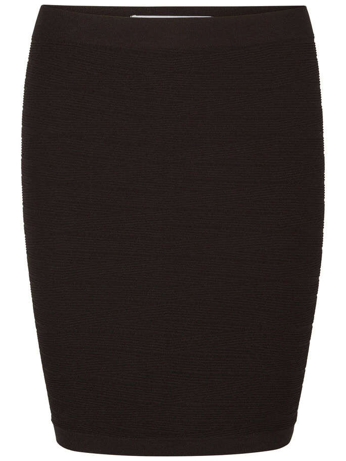 SHORT NW SKIRT, Black, large
