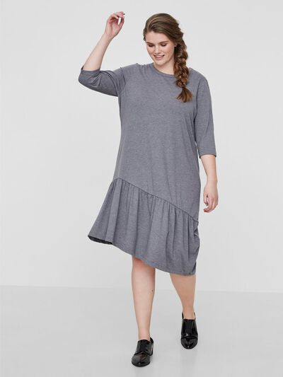 db43cd60edbc 3 4 sleeved dress