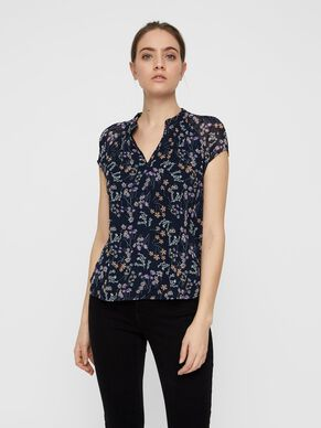9a11b252ed7c FLORAL SHORT SLEEVED TOP