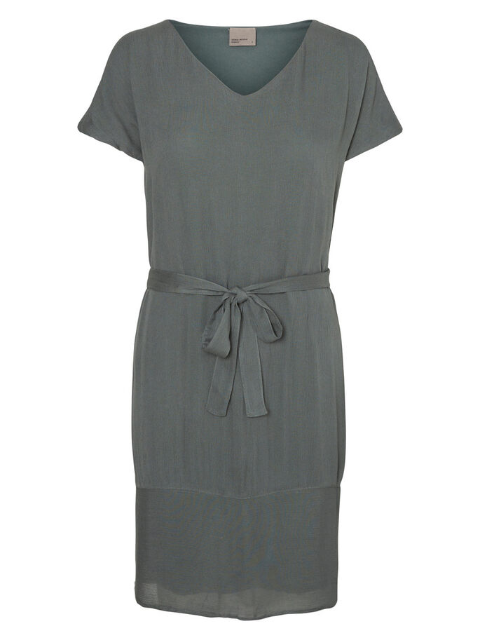 SHORT SLEEVED DRESS, Balsam Green, large