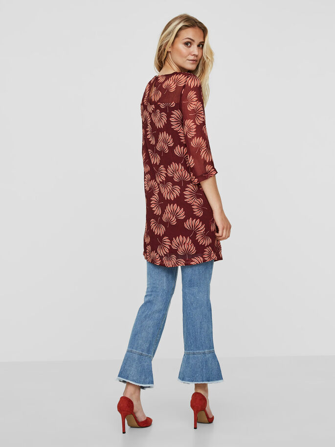 3/4 SLEEVED DRESS, Zinfandel, large