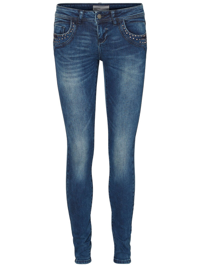FIVE LW SKINNY FIT JEANS, Dark Blue Denim, large