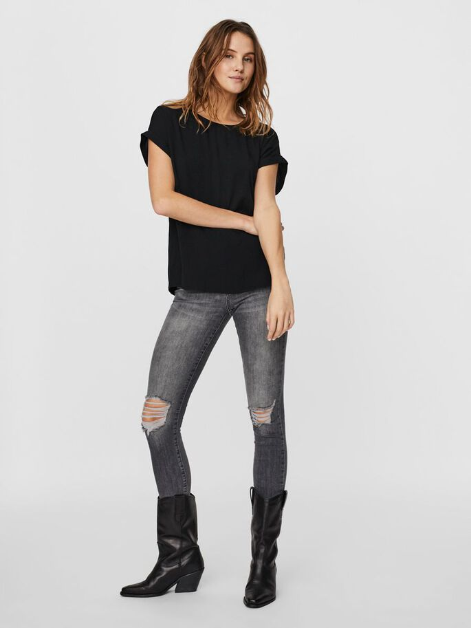 SHORT TOP, Black, large