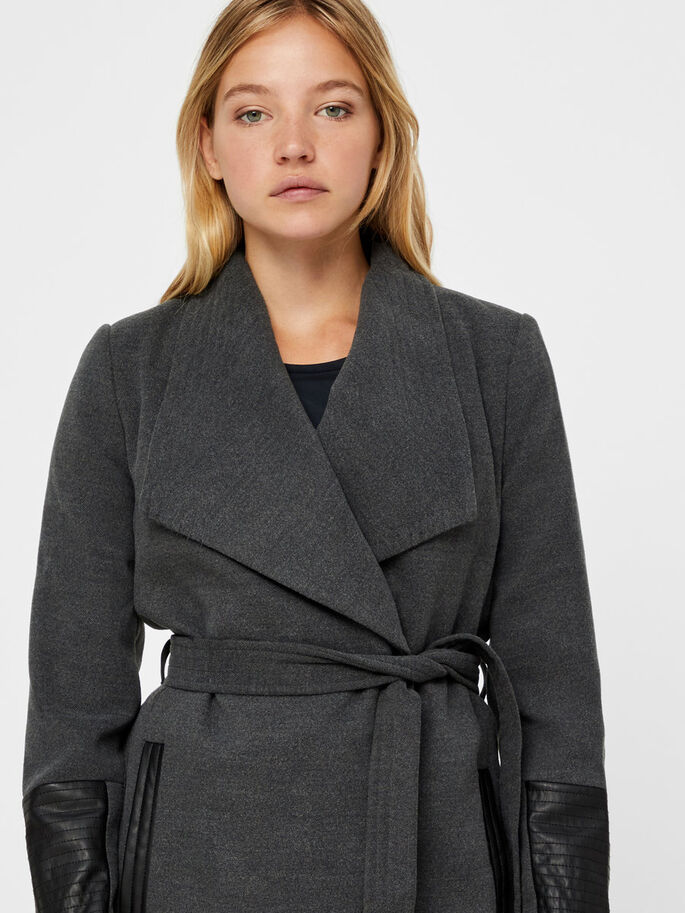 MANCHES LONGUES VESTE, Dark Grey Melange, large