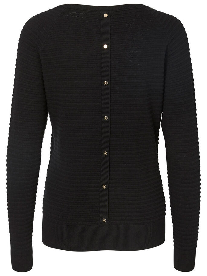 RIB BLOUSE, Black, large