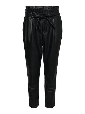 HIGH WAIST PAPERBAG ANKLE TROUSERS