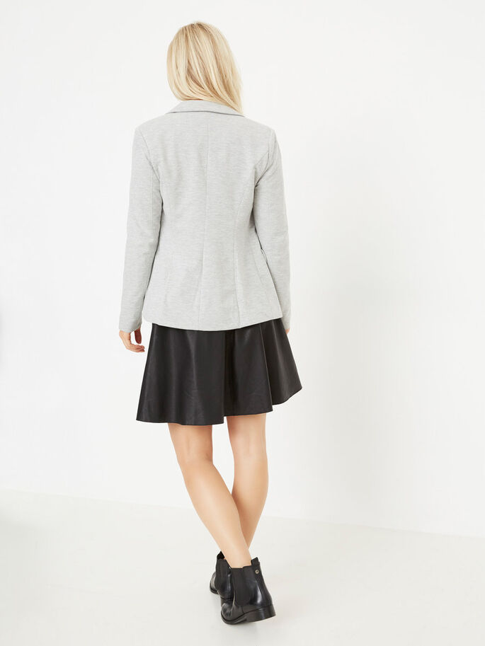 LONG SLEEVED BLAZER, Light Grey Melange, large