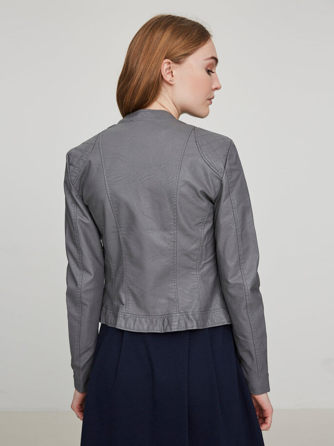 SHORT JACKET, Pewter, large