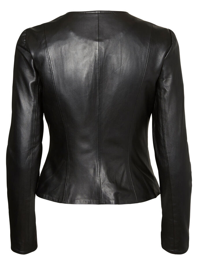 KURZE LEDERJACKE, Black Beauty, large