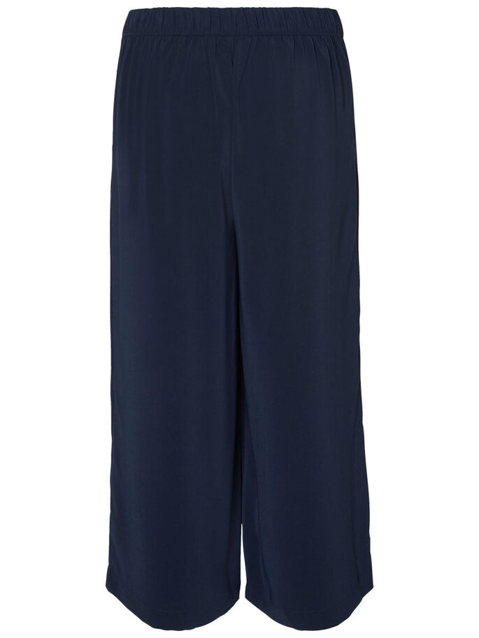 CULOTTE TROUSERS, Navy Blazer, large