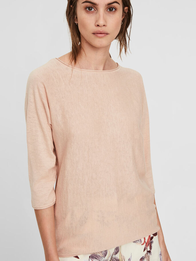 CASUAL 3/4 SLEEVED BLOUSE, Cameo Rose, large